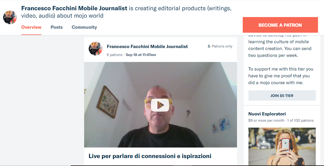 Business con il mobile journalism